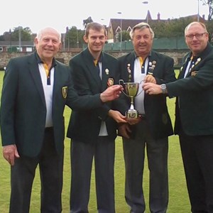 BUCKS LEAGUE WINNERS 2015 : John Castle, Dave West, John Leicester-Finch, John McAndrew