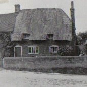 Forge Cottage prior to the collapse of the part of the building on the left