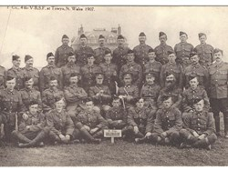 'F' Co (Collingham) 4th Notts Rifles Volunteers in 1907. Disbanded 1908.