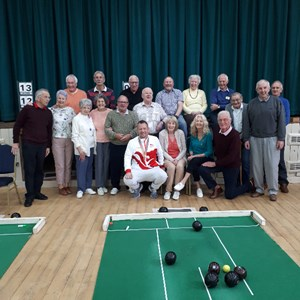 Great to see the members of the Community Centre Short Mat Club enjoying David's visit