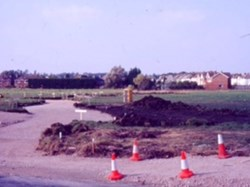 1985 Old Playing fields - footings for Chapman Way