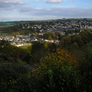 Totnes from Kingsbridge Hill