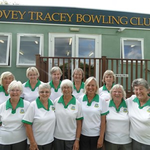Lady Captain Kath Callard and the 2016 SDL TEAM which won promotion to Division 3