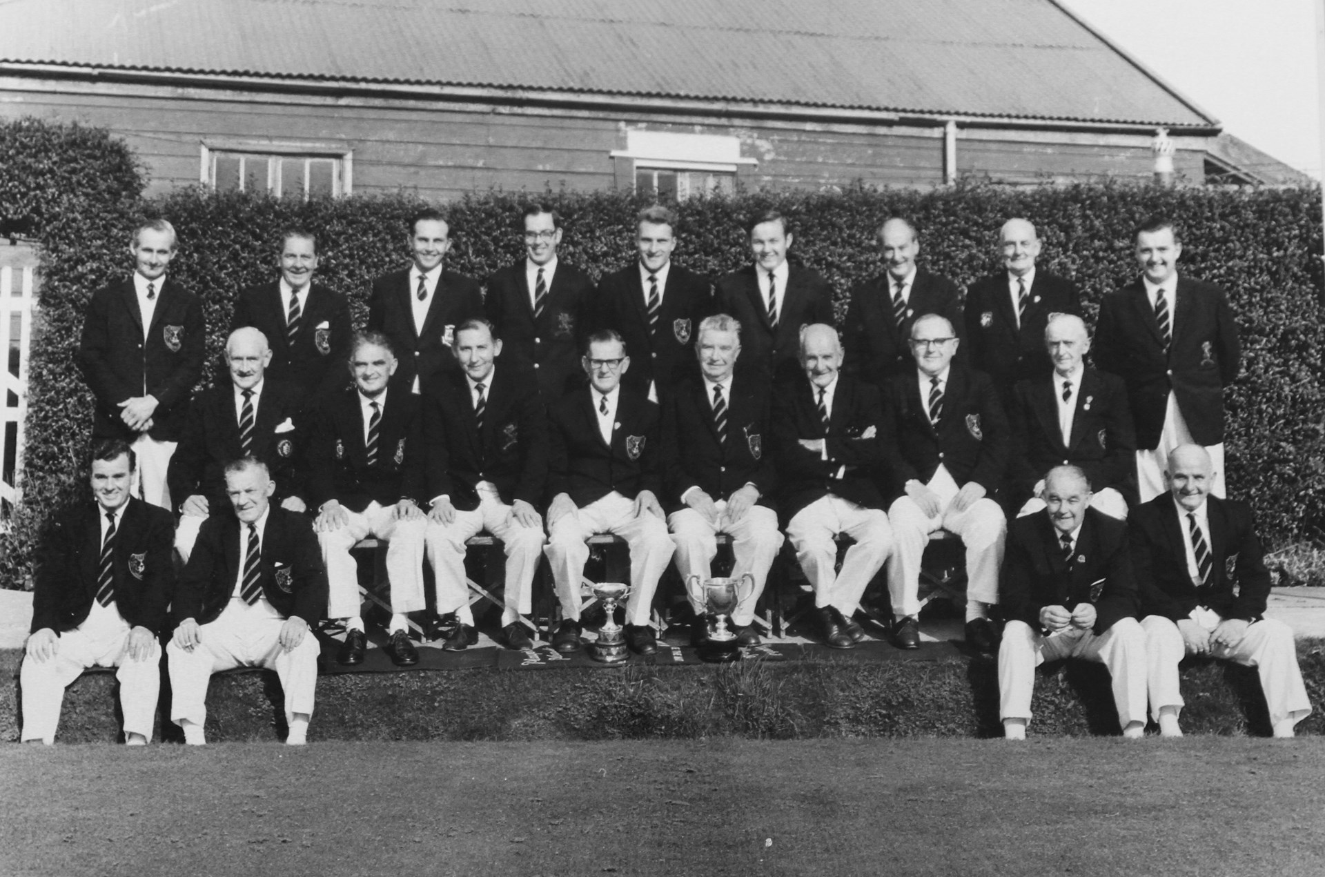 Barry Athletic Bowls Club Welsh Private Greens Champions 1968