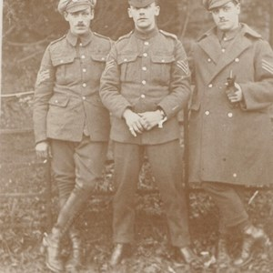 Left to right  George Victor Batchelor (Vic), Percival Broughton Batchelor (Percy), Horace Batchelor (Bob) .