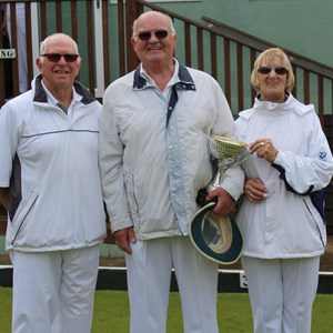 Drawn Triples Winners 2017 - Ray Parker, Alf Draper, Audrey Gibbs
