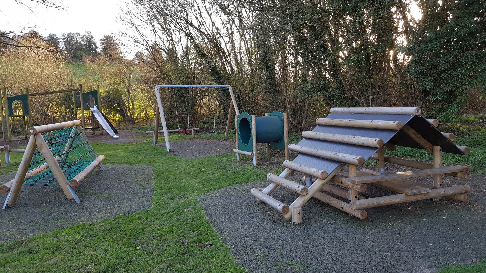 The playground at Abinger Hammer was refurbished by Abinger Parish Council in 2016