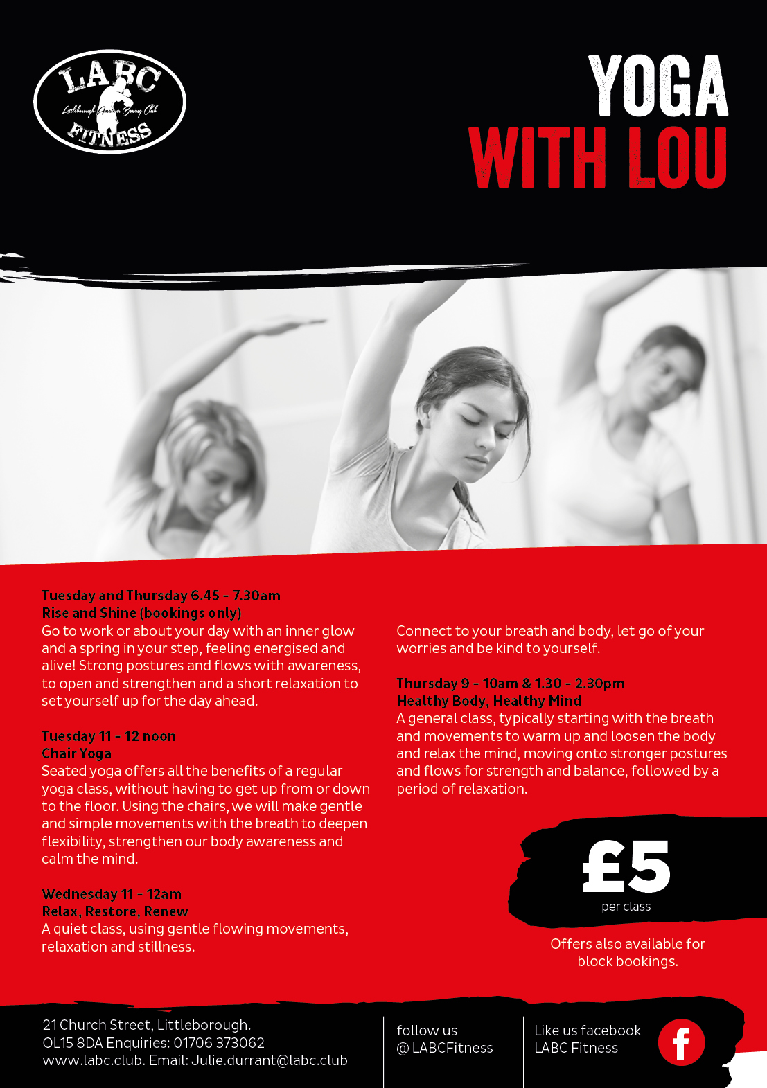 Littleborough Boxing & Fitness Club Yoga with Lou