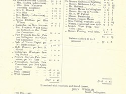 Statement of Account 1917