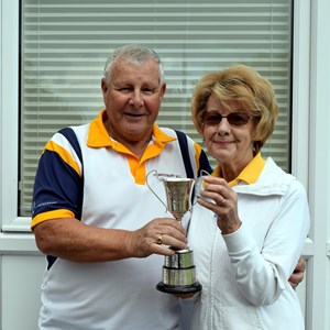 2 Wood Mixed Pairs. Rod Trower &  Janet Bishop