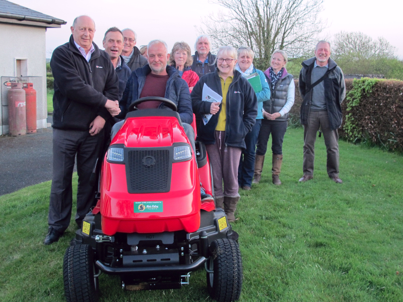 Presentation of new lawnmower to the Arscott Hall Committee