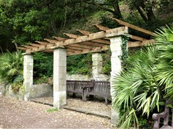The right-hand pergola has a new slatted roof.