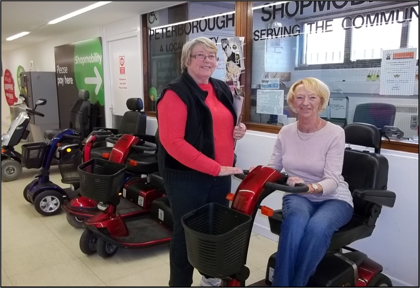 Shopmobility Peterborough Our Service