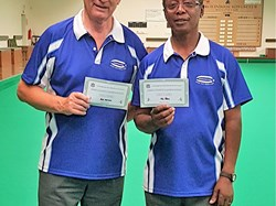 B Harrison & J Peters - County Pairs Runners Up 2017