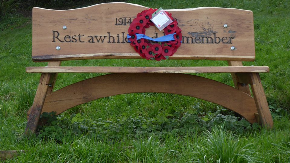 WWI Comemmorative Bench