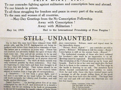 The Tribunal published by conscientious objectors during the war