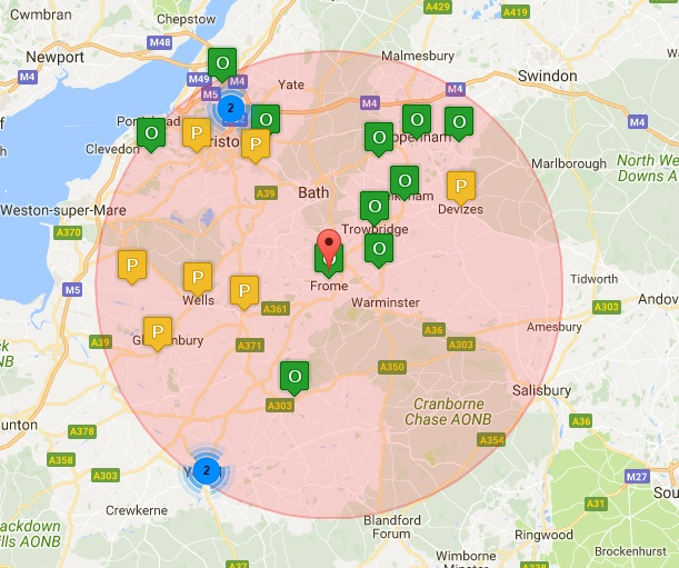 Men's Sheds within 25 miles of Frome (18th June 2016)