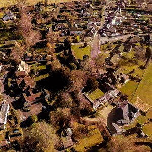 Medstead from 400 feet ©David Quick, 2016