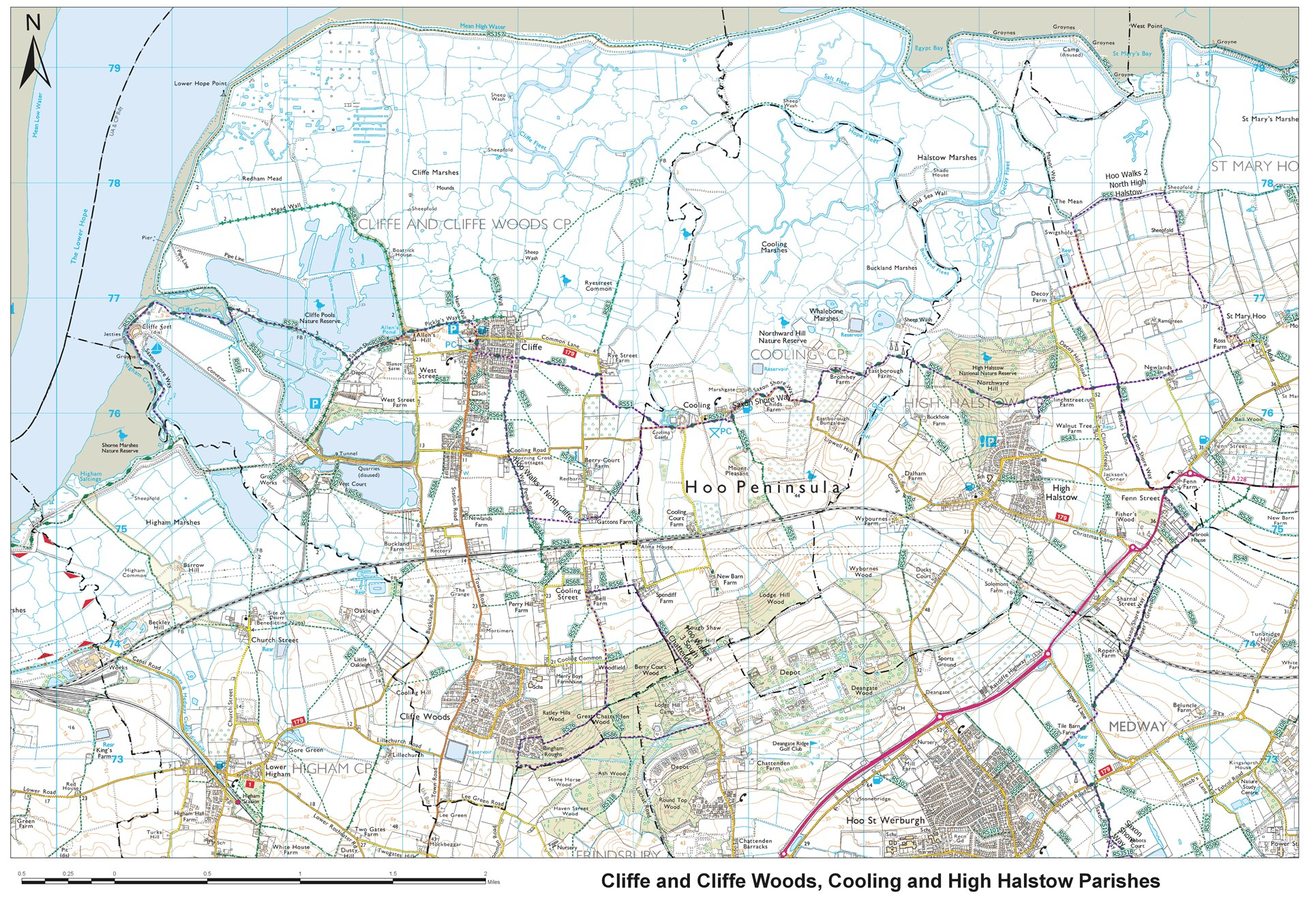 OS Map of Village Footpaths