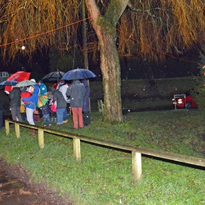 Somme of the residents who braved the rain for Carols at the Pond 2018