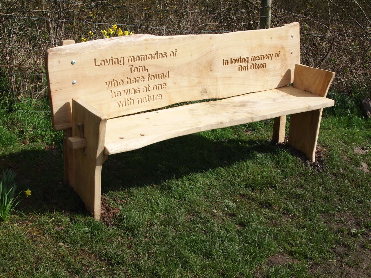 The new bench, installed late March 2016