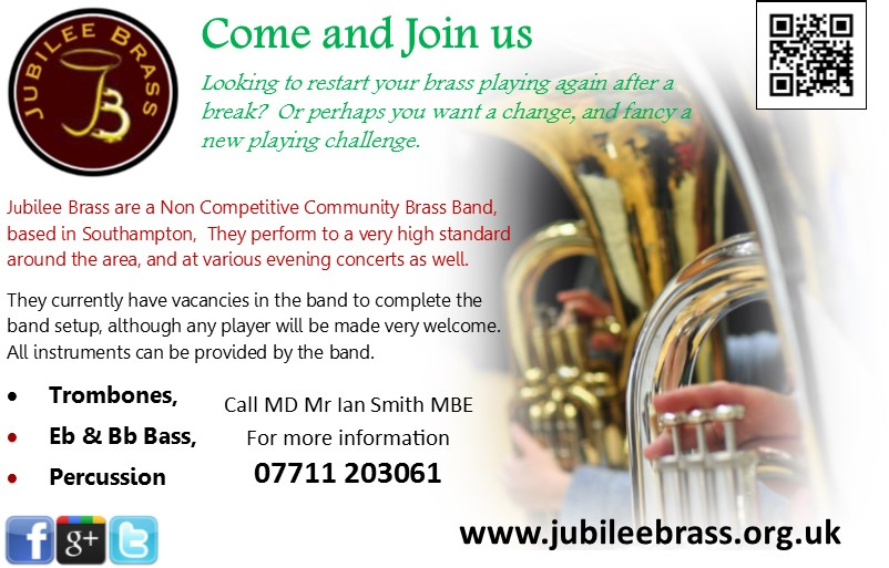 Jubilee Brass Advertise the Band