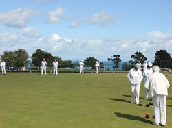 Beautiful day at Brixham bowling club