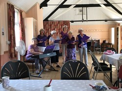 Members of the Purple Group providing entertainment