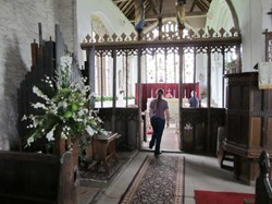 Rood screen at St Giles