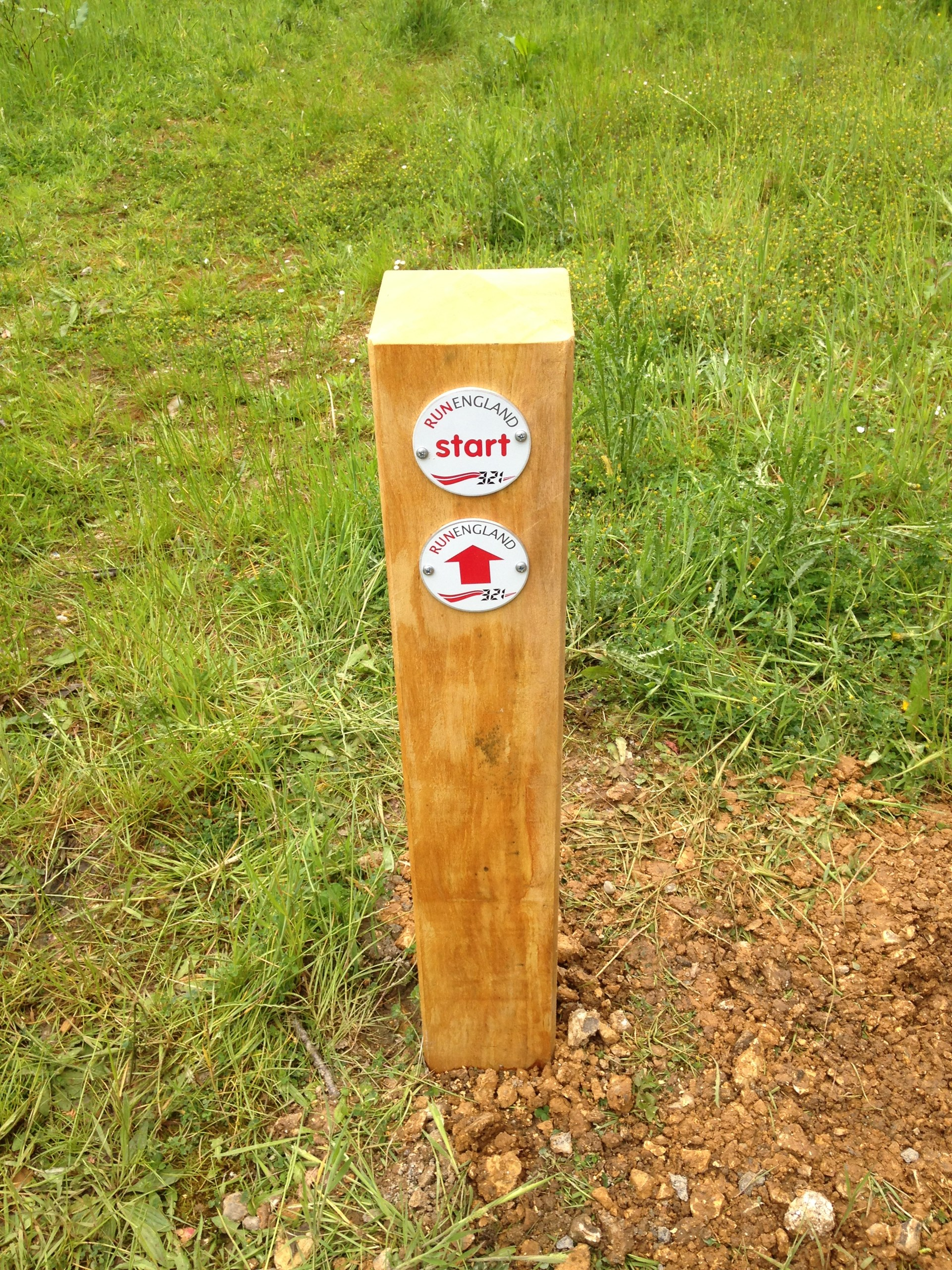 Way markers direct your route around the Trim Trail
