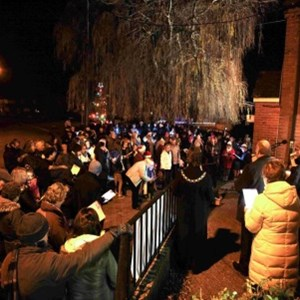 Carols outside the Methodist Chapel