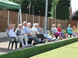 Spectators settled in for an afternoon of action
