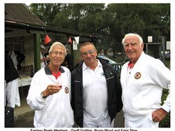 L to R: Geoff Godden, Roger Wood and Ernie Stow