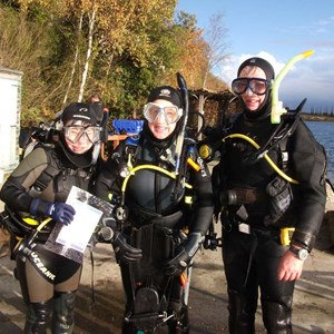 SCUBA diving Buckland Lake