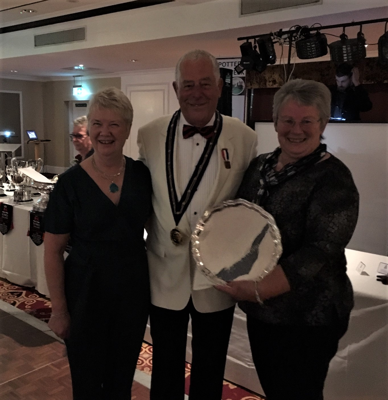 Margaret Watson Past President Yorkshire Ladies, Bill Smith BE President 2018, Janet Farnsworth Walker Cup Runners Up