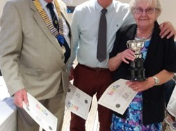 Nowick winners Mall Croson, Bruce Acock and Mary Slater