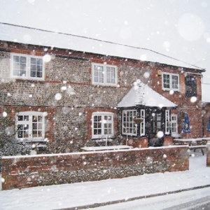 Barley Mow in snow storm