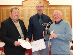 John Gutteridge & David Lloyd winners of the Drawn Pairs