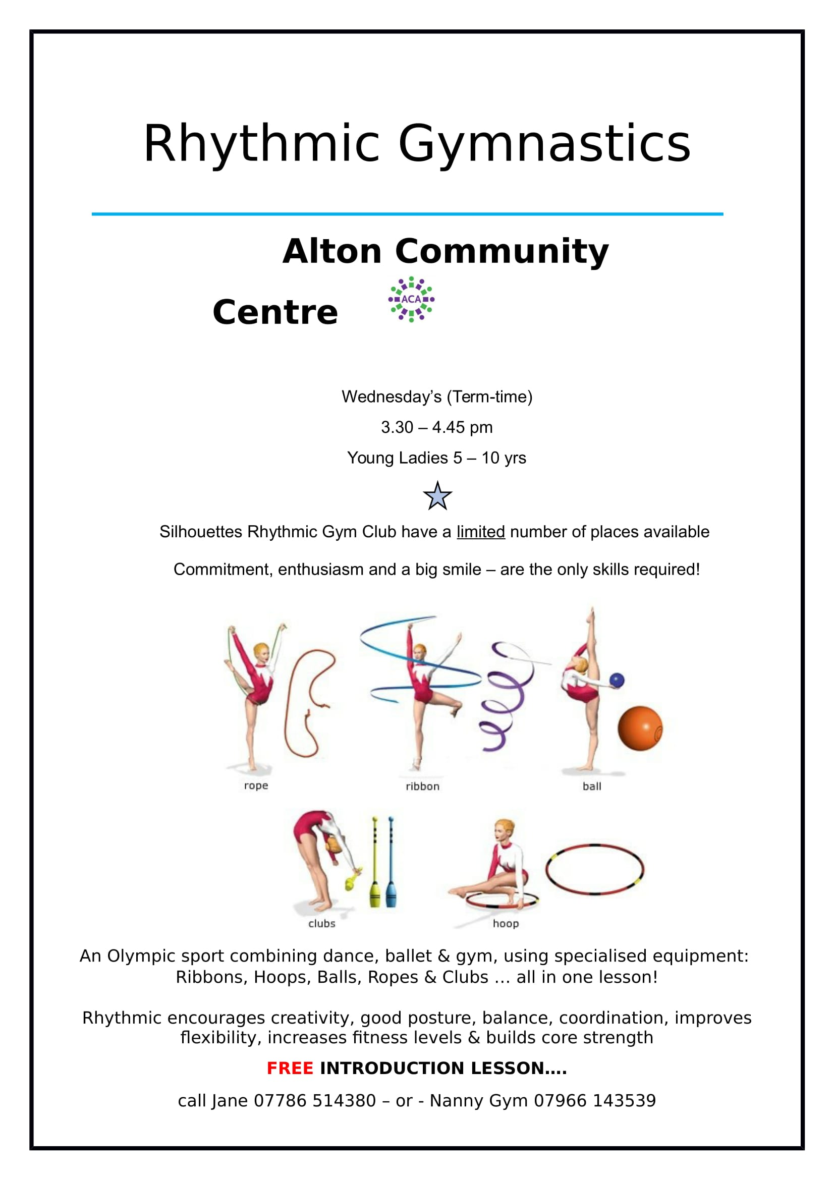Alton Community Centre Rhythmic Gymnastics