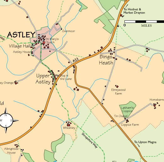 Astley Parish Map