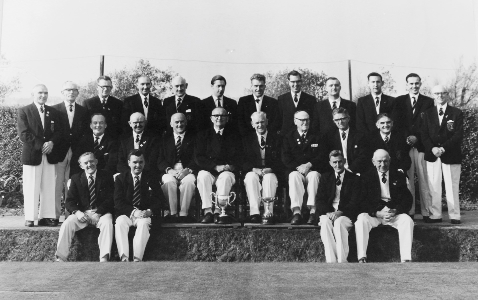 Barry Athletic Bowls Club Welsh Private Greens Champions 1962