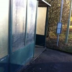 Andover Road bus shelter tidied and repaired, December 2016