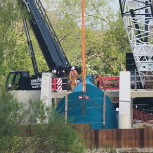 1st Archimedes Screw in place 07 05 17