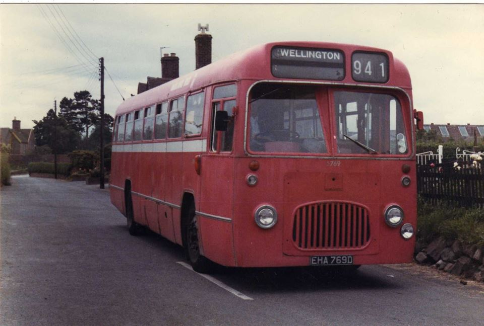"Bus looking towards ""The Huntsman"" sometime during 1960's"