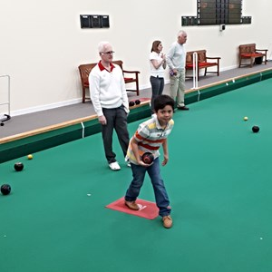 One of the youngsters showing us how to bowl