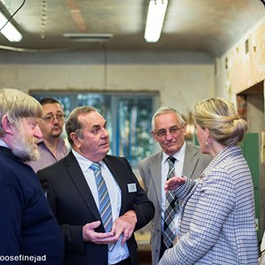 Countess of Wessex visit to the Men's Shed at the Balsam Centre