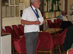 Stourport bowling club President Alan Guest