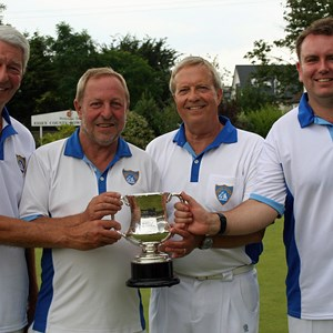 Nigel Holt, Graham Walford, Colin Vinter, Simon Toop. Essex County Fours winners 2016