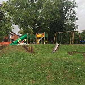 The new play equipment in The Dell, August 2019