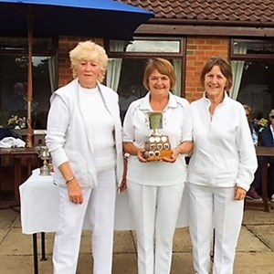 Triples Runners Up A. Richardson, M. Moss, F.Whorlton